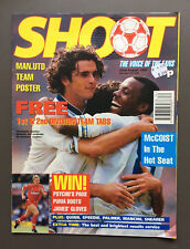 SHOOT MAGAZINE 22nd August Soccer Football Man Utd Poster Shearer Mancini Quinn