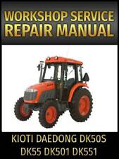 kioti daedong dk65 tractor service manual