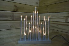 Christmas Star Shaped Candle Bridge with 20 Bulbs in Silver