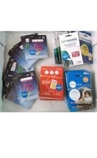 100 Sim Card Bulk Wholesale Joblot 02 Vodafone lyca Lebra