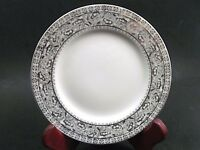 """4 Kutani China Hand Painted Floral Platinum Bread Butter Plate/s 6 1/4"""" Set of 4"""