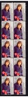 DAVID CASSIDY, PARTRIDGE FAMILY STRIP OF 10 VIGNETTE STAMPS 5