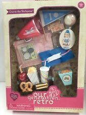 """Our Generation Retro OUT TO THE BALLGAME  FUN Accessories Set 18"""" Dolls New"""