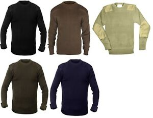 Military Acrylic Classic Commando Sweater Pullover Army Crew Neck Rothco 6347