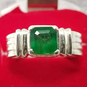 Gorgeous! Mens Emerald Wedding Ring Top Quality Swat Emerald Rings for men