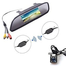 "Wireless Car Auto 4.3"" Backup Mirror Monitor IR Night Vision Parking Assistance"