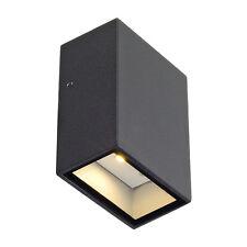Intalite esterno IP44 QUAD 1 luce a parete quadrato antracite LED 1x3W 3000K