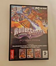 Tycoon Pc cd rom game Rollercoaster Roller 3 platinum
