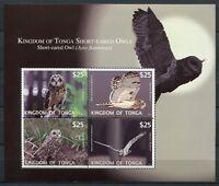 Tonga 2012 Eulen Owls Vögel Birds Block 57 Postfrisch MNH
