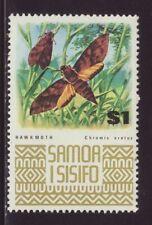 1972 Samoa $1 Hawkmoth Unmounted Mint SG399