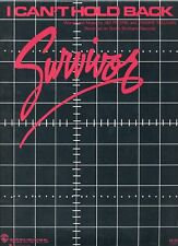 "SURVIVOR ""I CAN'T HOLD BACK"" SHEET MUSIC-1984-VERY RARE-BRAND NEW-MINT CONDITION"