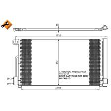 Kondensator Klimaanlage - NRF 35777