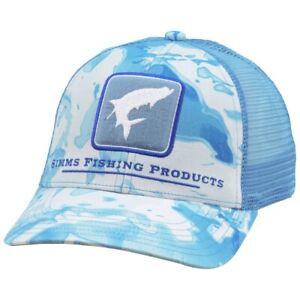 Simms Fishing Tarpon Trucker Patch Hat Cap - Cloud Blue Camo Color - NEW!