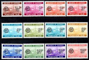 "(Ref-14451) Guernsey 1977-80 Postage Dues ""St.Peter Port""  SG.D18/D29 Mint (MNH)"