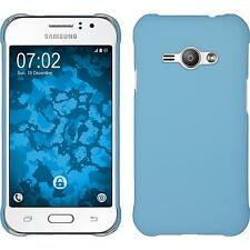 Hardcase Samsung Galaxy J1 ACE rubberized light blue Cover + protective foils