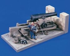 Verlinden 54mm (1/32) 8 Inch Columbiad Cannon on Casemate Carriage w/Figure 1639