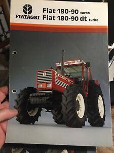 Fiat Fiatagri 180-90 tractor brochure leaflet