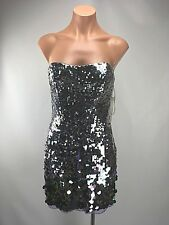 Sherri Hill 4 Purple Sequin Disco Wiggle Mini Metallic dress Prom Flirty Short