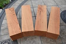 "X4 CHERRY Turning blanks / blocks lumber lathe carve 3"" x 3"" x 12"""