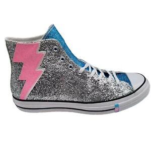 Converse Chuck Taylor All Star 70 Hi Shimmering Pride Silver Blue Pink Glitter S