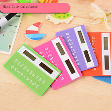 stationery card calculator ultrathin miniature Solar Power Pocket Calculator