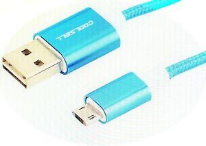 Callstel Lade-/Datenkabel USB auf Micro-USB mit beidseitigen Steckern, 100 cm