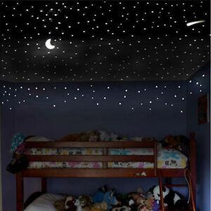 Leuchtsticker Wandtattoo,281 St/ück aufkleber leuchtend selbstklebend,Leuchtende Aufkleber Kinderzimmer,f/ür Schlafzimmer Jungen M/ädchen Kinderzimmer Wandsticker Leuchtaufkleber Star