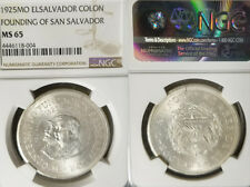 El Salvador 1925 Colon, Rare NGC 65, Mintage 2,000 coins Struck, Brilliant.