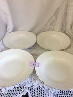 "Royal Worcester - Cerendipity Gold - Set Of Four Soup/Pasta Bowls/ Deep Plate 9"""
