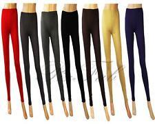 Full Length Plain Legging For Women Black Red Grey Purple Beige Stretch 8 - 22