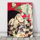 "Vintage Japanese Kabuki Art CANVAS PRINT 36x24"" Kunichika #136"