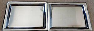 "BURBERRY Perfume Vanity Tray Silver Metal Mirrored 8"" x 11"""