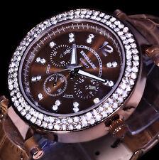 Excellanc Uhr Damenuhr Armbanduhr Braun Kupfer Farben