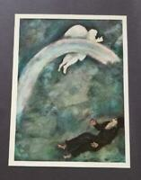 """Chagall """"The Rainbow Covenant Between God And The Earth"""" Mounted Lithograph 1973"""