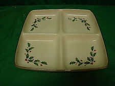 Lenox Holiday Holly Divided Dish Server 4 Sections