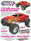 Parma PSE 10114 1969 69 1/10 1/8 Monster Truck Muscle Car Clear Body New NIP