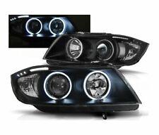 HEADLIGHTS LPBM62 BMW E90 E91 2005-2008 SALOON TOURING ANGEL EYES CCFL BLACK RHT