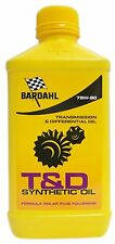 3 LITRI OLIO TRASMISSIONE CAMBIO DIFFERENZIALE BARDAHL T&D GEAR OIL 75W90 SYNT