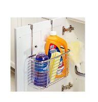 Over Door Hanging Basket Shower Toilet Chrome 1/2 Tier Organiser Kitchen Tidy