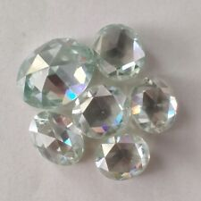 Oval Checkerboard Loose Moissanite Use 4 Ring 1.95 Ct 8.83x7.14 Mm Vs1 Off White