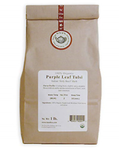 The Tao of Tea Purple Leaf Tulsi, 100% Organic Tulsi, 1-Pounds
