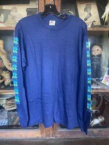 vintage 1970's nike long sleeve t-shirt NOS deadstock  block print Orange Tag