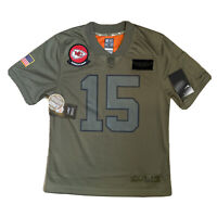 Nike Kansas City Chiefs Salute To Service Game Jersey 15 MAHOMES Youth Women M