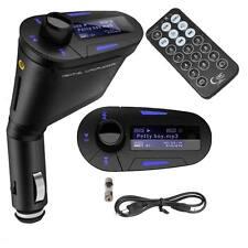 TRANSMISOR FM MP3 COCHE UNIVERSAL AZUL CONECTOR MECHERO CON USB SD  MANDO.EN 24H