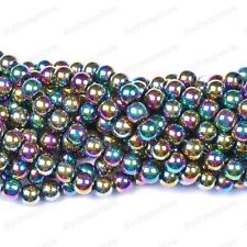 Ball BLACK NON-MAGNETIC HEMATITE Spacer BEADS 4MM 6MM 8MM 10MM 12MM