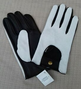 Mens goat nappa driveing gloves with cotton backs in brown or black leather