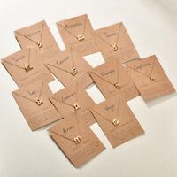 Constellation Pendant Gold Necklace Choker Necklace Zodiac Gift Birthday Sign UK