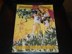 1996 MINNESOTA COLLEGE FOOTBALL MEDIA GUIDE NEAR MINT BOX 2