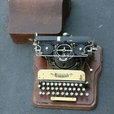 ANTIQUE VINTAGE HAMMOND No. 12 TYPEWRITER AND WOOD CASE COVER CIRCA 1905 USA