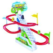 Penguin pista de carreras juego de batería de juguete de regalo de diapositivas Animales Diversión hipnótico Relajante niño